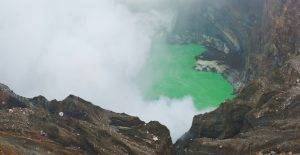 Supervolcano crater
