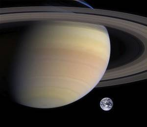 Saturn, second largest planet