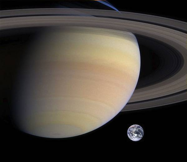 Saturn, second largest planet