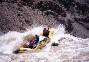 Raft in the Big Drop Rapids, Cataract Canyon /