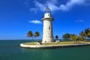 lighthouse at Boca Chita key in Biscayne national park