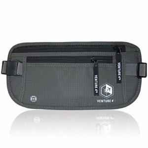 Travel Money Belt for Men and Women – Concealed Travel Wallet & Passport Holder with RFID Blocking